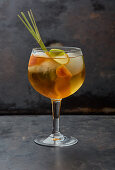 A fruity cocktail with lemongrass