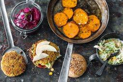 Ingredients for veggie burgers