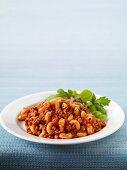 Chilli mac (chilli con carne with macaroni)
