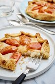 Apricot and marzipan galette