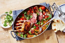 Indian Lamb Rack with Lentils