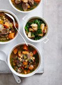 Spiced Chickpeas, Kumara and Beef Soup