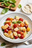 Gnocchi with colourful cherry tomatoes