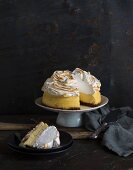 Lemon cheesecake topped with meringue
