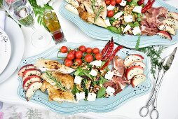 A luxurious salad platter (appetizer)