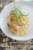 Chicken breast with tarragon