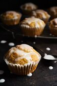 Lemon muffins with icing