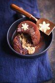 Chocolate lava cake (vegetarian)