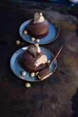 Chocolate domes with gingerbread mousse