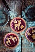 Linzer tarts (almond pastry topped with raspberry jam from Austria)