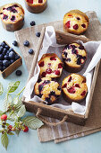 Mini Berry and Lime Cakes
