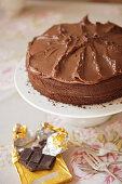 Chocolate fudge cake (afternoon tea)