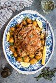 Slow cooked Kleftiko (lamb roast with vegetables, Greece)