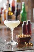 A chickpea aquafaba cocktail