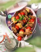 Meatball skewers for a summer picnic
