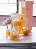 Iced tea in a diner (USA)