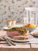 Herb crust ham for brunch