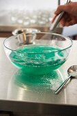 Whisking a jelly mixture