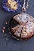 Panettone with icing sugar (Italy)