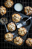 Lemon Ricotta Muffins with mixed seeds