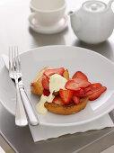 Strawberries and Cream on Brioche