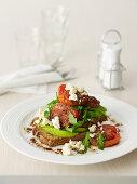Fetta, Avocado and Roasted Tomato Toastie
