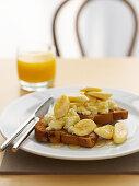 Ricotta and Banana Toasts