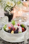 Beetroot salad with feta for Christmas