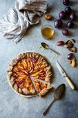 A galette with peach, nectarine and plum