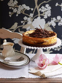 Wickedly Rich Chocolate Butterscotch Cheesecake