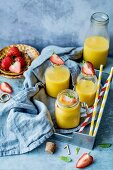 Orange juice and strawberries