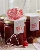 Raspberry jam with vanilla