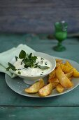Watercress aioli with fries