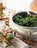 Pan-fried kale for Christmas