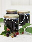 Blackberry jam with grape juice
