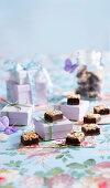 Chocolate Liqueur Truffle Squares