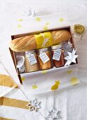 Homemade Christmas presents: butter and baguette