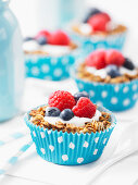 Granola fruit cups with berries