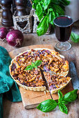 Mushroom and onion pie