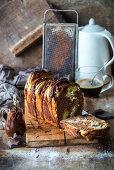 Chocolate pull-apart bread