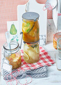 Preserved apples and pears