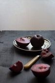Plums, whole and sliced