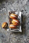 Cconut and lemon sandwich cookies