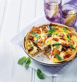 Tomato and sardine tart