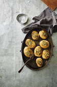 Crunchy parmesan and herb hasselback potatoes