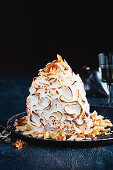 Baked Alaska with pineapple, ginger and coconut