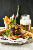 Mexican beef and black bean burgers