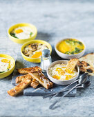 Oeuf cocotte with grilled bread