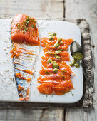 Gravlax with sweet mustard dressing