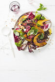 Roast pumpkin and black rice salad